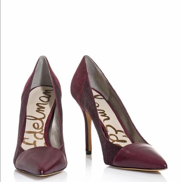 sam edelman burgundy heels